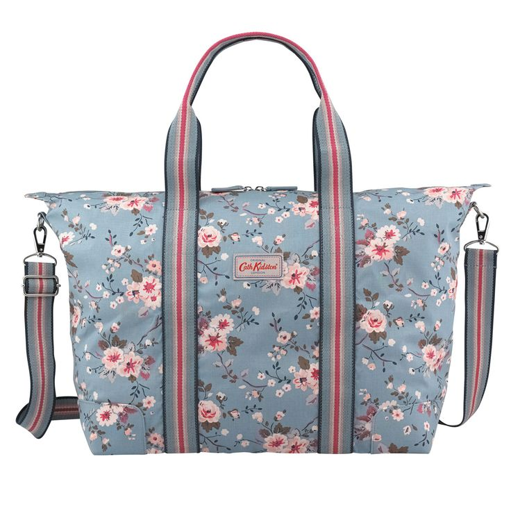 Trailing Rose Foldable Overnight Bag | Foldaway Bags | CathKidston