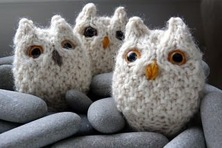 OWLS!!! I have made fourteen owls so far, all heavily modified because can't help myself.  I got the wool for these at Gaspereau Valley Fibres, in my opinion the best looking yarn shop I have...