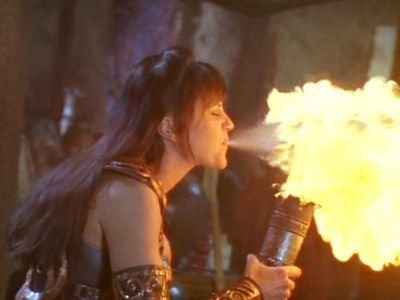 Things are heating up, when Xena is breathing fire....