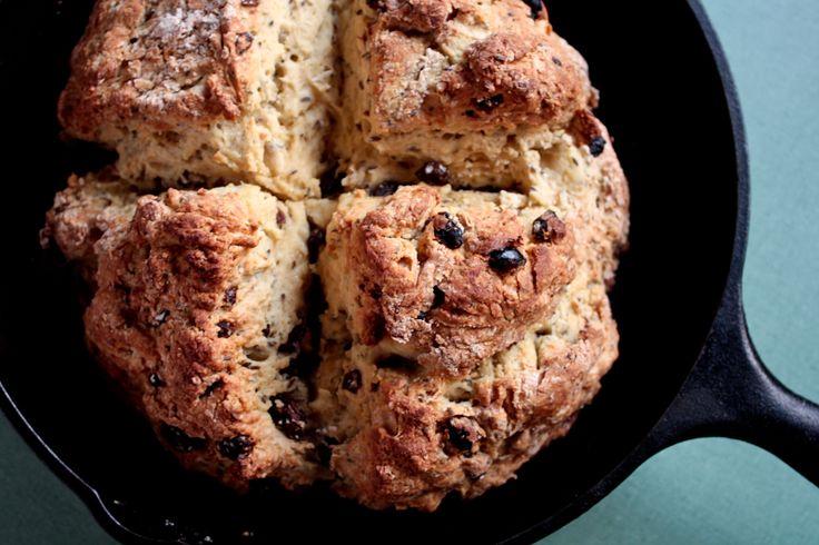 Irish Soda Bread with Raisins and Caraway seeds.