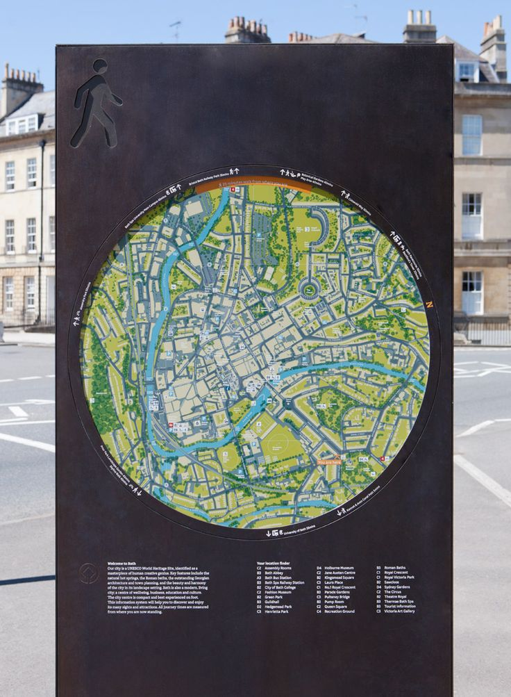 wayfinding system for city of bath by