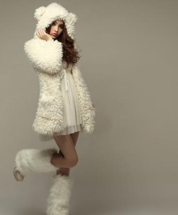 @~Monita~ So CUUUUUUTE!  Sweet Fluffy Hoode Coat   I joined @Sammydress Fall Wardrobe #Contest  !