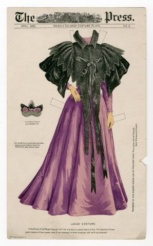 75.2208: Ladies' Costume | dress | Paper Dolls | Dolls | National Museum of Play Online Collections | The Strong