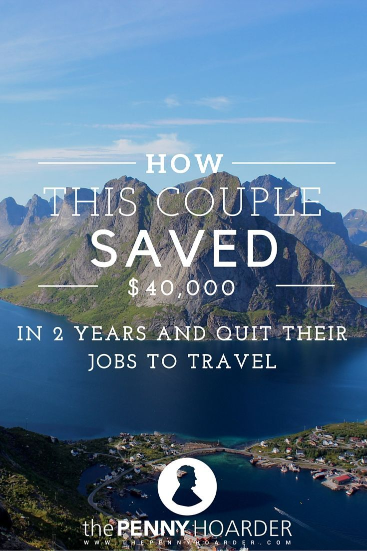 Want to quit your job to travel, but not sure how to afford it? Saving up for a dream trip around the world is challenging, but we spoke with a couple who managed to save more than $40,000 before heading off on their own round-the-world adventure. Here's their best advice on how to save money to travel. - The Penny Hoarder www.thepennyhoard...