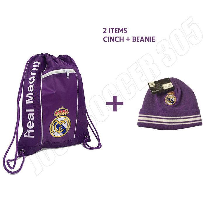 Real Madrid Cinch + Beanie Purple New Colors Bag Sack Soccer Book Backpack  #Icon #RealMadrid