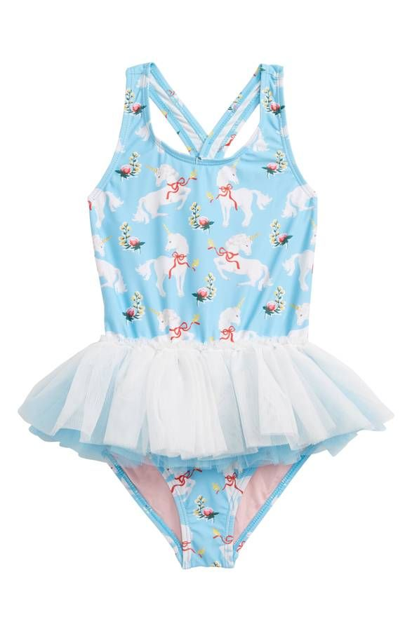 5d23cdaa206a4 Rock Your Kid Unicorns Tulle One-Piece Swimsuit #rockyourkid #rockyourbaby