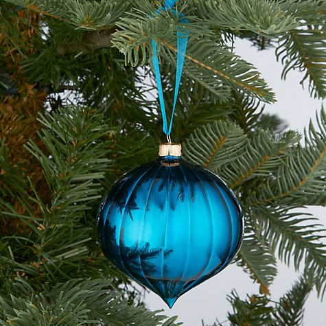 Buy John Lewis Shiny Ribbed Onion Bauble, Blue Online At Johnlewis.com.  Christmas BaublesChristmas DecorationsOnionJohn ...