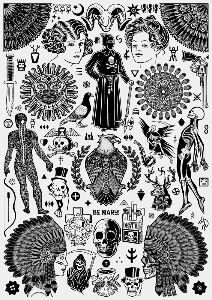 Tattoo Flash Art Black And White Guitar: 50 Best Russian Criminal Tattoo Images On Pinterest
