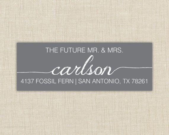 Return Address Labels. Return address label sticker. Custom address label. the future mr. and mrs. Couples Return address label
