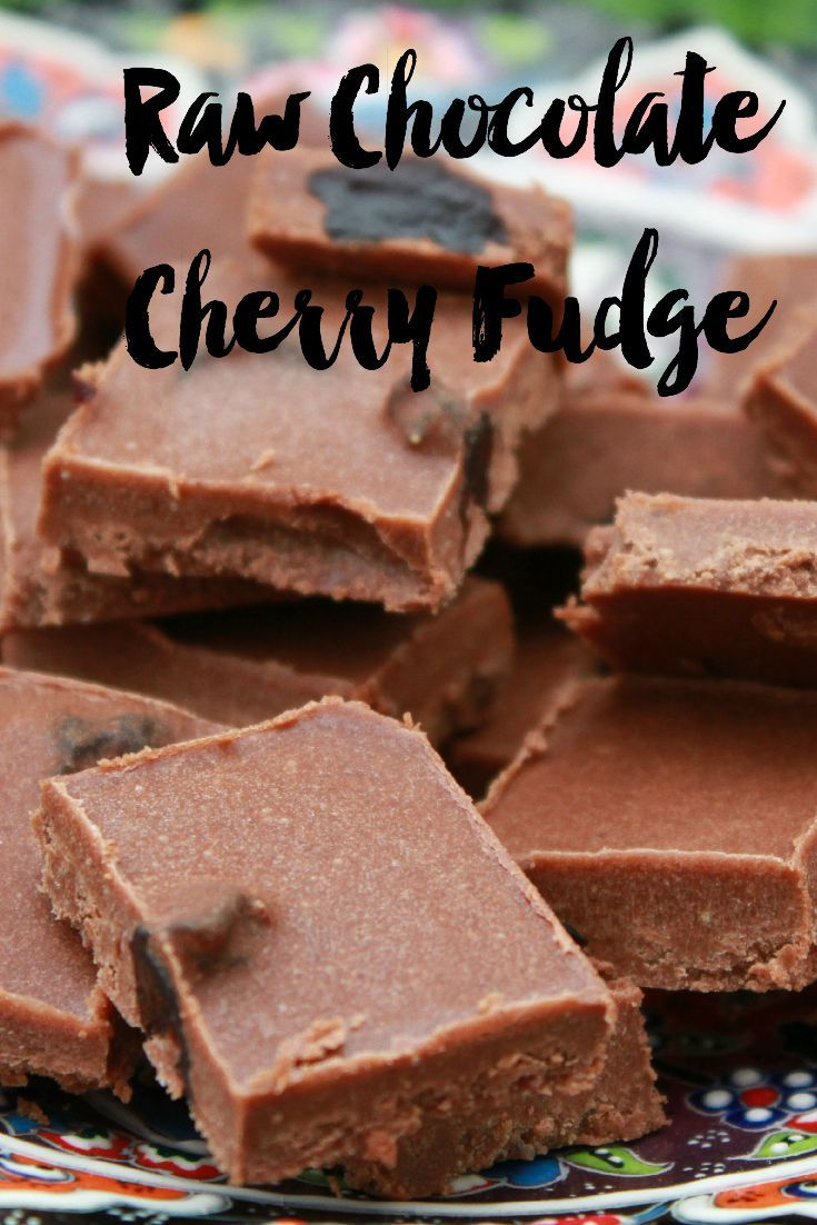 Recipe for the most delicious raw chocolate and cherry fudge. Suitable for vegans. No cooking required! Tastes out of this world.