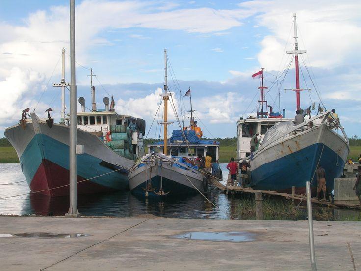 Dermaga di Kepi, Mappi, Papua