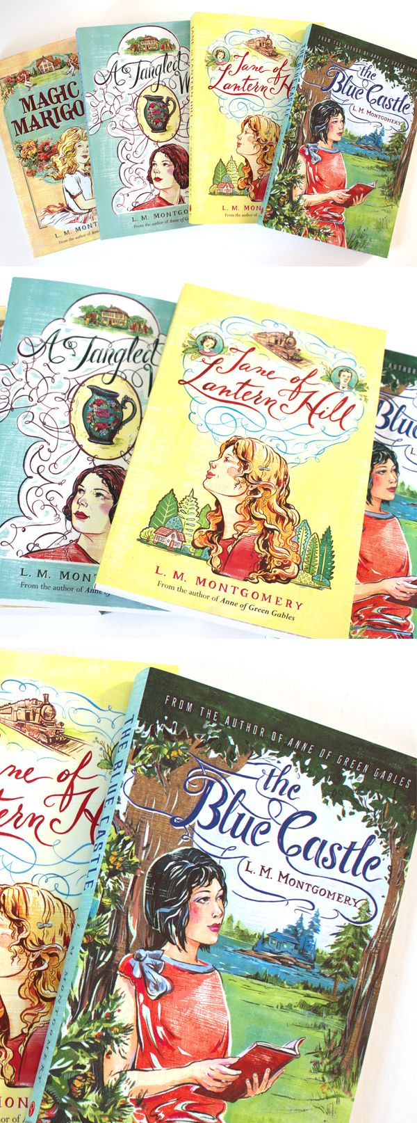 L.M. Montgomery Book Covers (Sourcebooks) - by Jacqui Oakley Illustration & Lettering