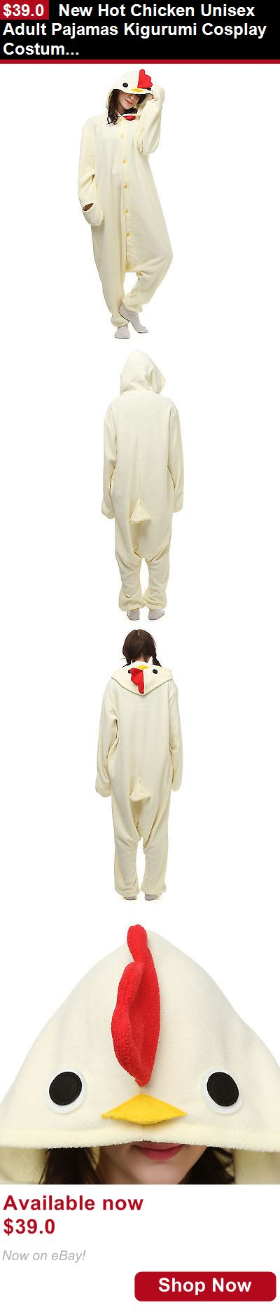 Costumes and reenactment attire: New Hot Chicken Unisex Adult Pajamas Kigurumi Cosplay Costume Animal Onesie BUY IT NOW ONLY: $39.0