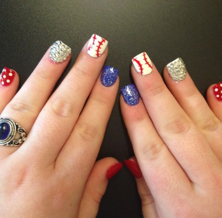 baseball nails nail design rangers
