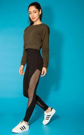 Quontum Black Fishnet Leggings