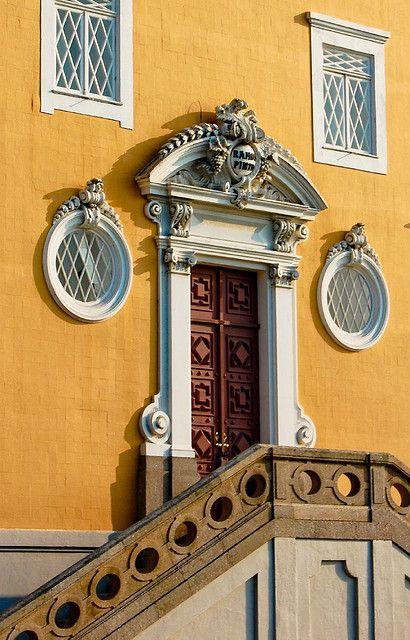 | ♕ | Palatial entrance - Porto, Portugal | by © Jsome1Port Portugal, Facades, Doors Windows G, Grand Entrance, Colors, Gift Wraps, Architecture, Entrance Doors, Palatial Entrance