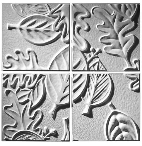 Create a canopy of leaves for your contemporary interior using the Retro Leaf Panel series of ceiling tile.