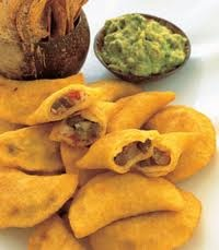 Colombian food - empanadas. My most favorite food in the whole entire world! Nothing beats it for me. Nothing!