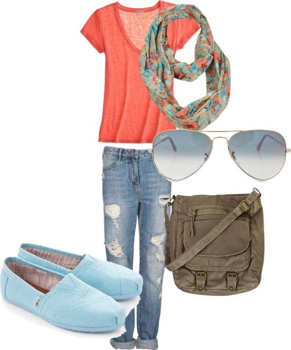 Gorgeous summer outfit and the blue toms give it a clean, cool vibe. You could swap the tee for a singlet or the tom's for some sandals or thongs(flip flops)