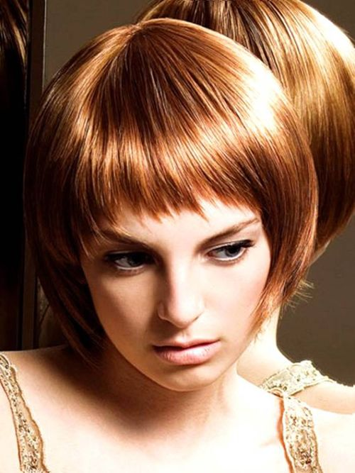 Easy Short Bob Hairstyles with Bangs