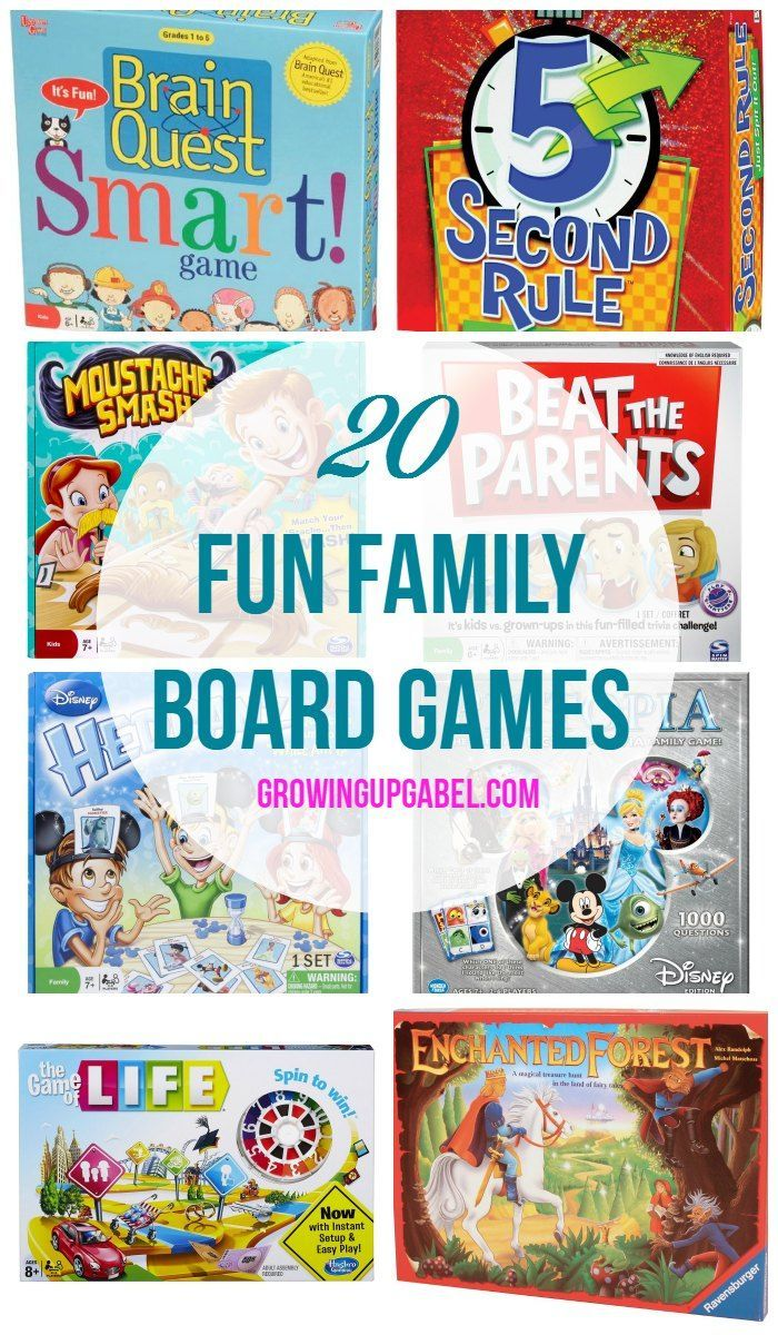 20 of the Best Family Board Games for a fun family game night! These make great Christmas gifts for kids! family fun activities #family