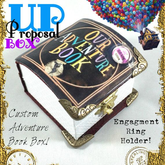 REaDY NoWOUR ADVENTURE BOOKUp FAuX BooK BoXCaRL & by GeekMana Jewelry  Rings  Our Adventure Book  Up Proposal  Up Proposal Book  Up Ring Book  Adventure Book Box  Adventue Book Carl and Ellie  Up Carl and Ellie  Up Wedding  Disney's Up  Up Carl  Up Ellie  Grape Soda Pin