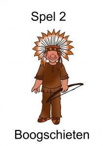 ~ Spel 2 boogschieten, thema indianen voor kleuters, kleuteridee.nl doorkijken voor meer spelen