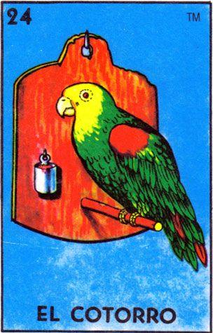 parrot, lotería, el cotorro - Loteria Mexicana - Mexican Bingo