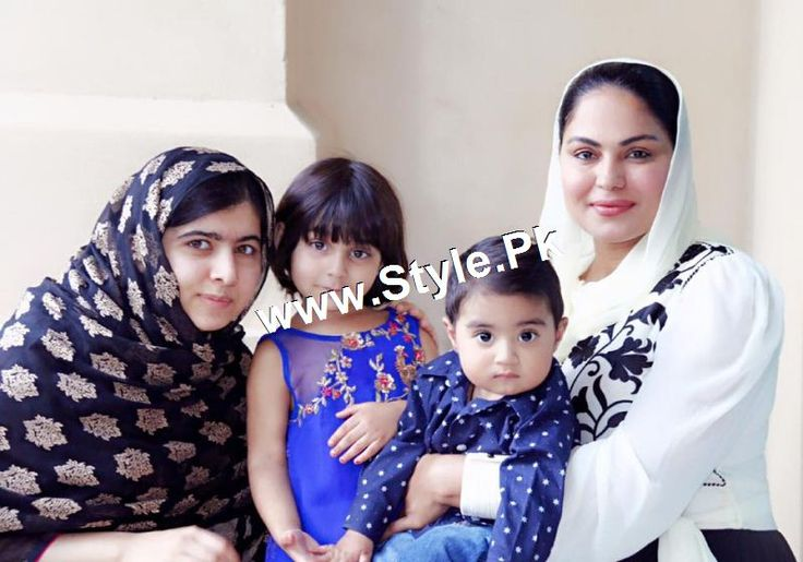 Veena Malik is Pakistani Film actress and model who met malala's family in Dubai. See Pictures of Veena Malik's and Malala's family in Dubai.