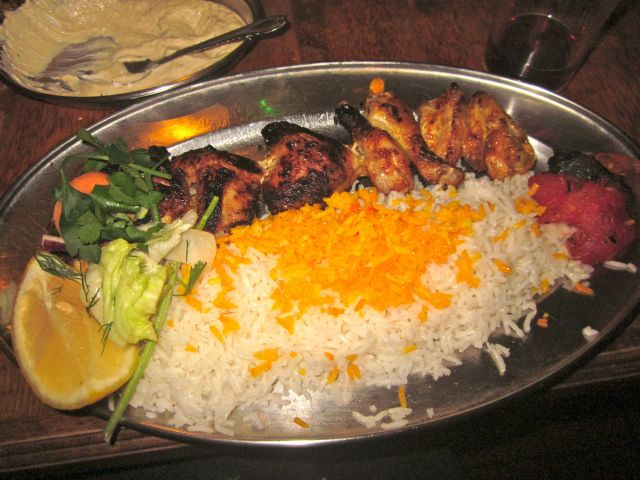 Patogh Iranian Restaurant on Crawford Place in London is a tiny restaurant with great-value Iranian food (the flat bread is a must) and it's BYO!