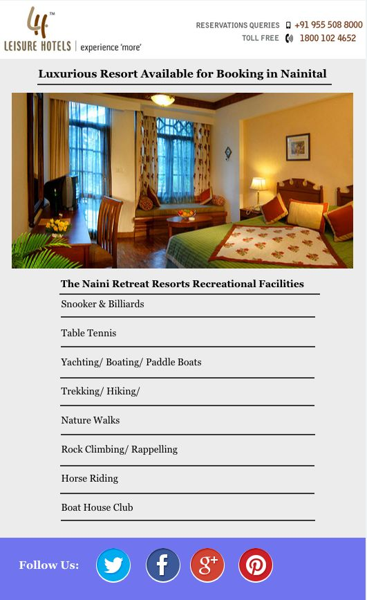 Luxurious Resort Available for Booking in Nainital