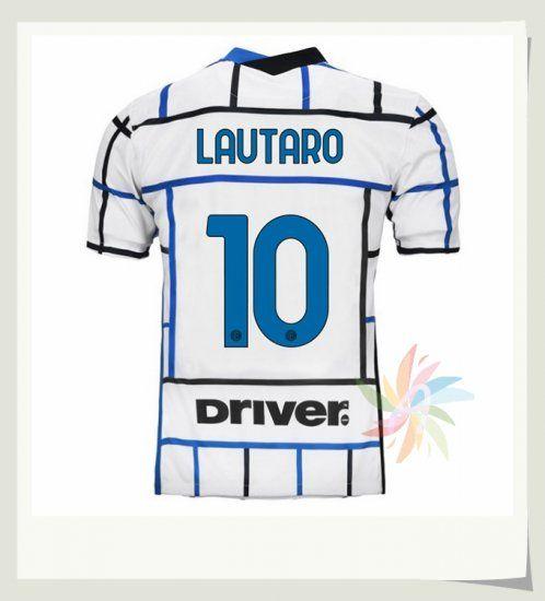 Seconda Maglia LAUTARO 10 Inter Milan 2020 2021 Bianca | Inter ...