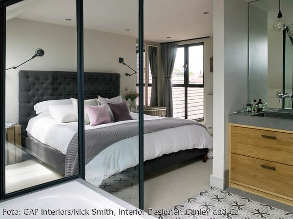 Schön Mit Einem Bad En Suite, Einem An Das Schlafzimmer Angrenzenden Badezimmer,  Spart Man Platz