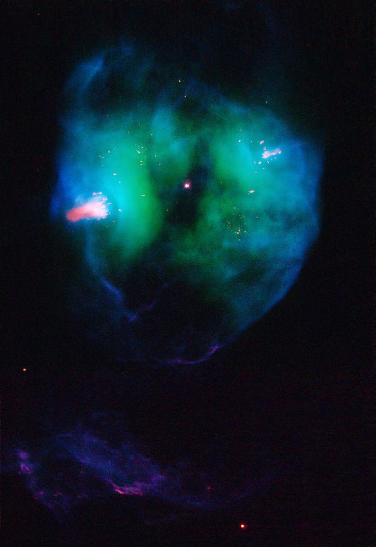 The object, called NGC 2371, is a planetary nebula, the glowing remains of a Sun-like star.