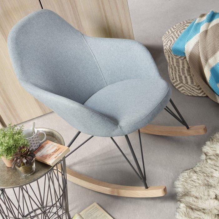 Une jolie chaise à bascule en soldes Kavehome qu'on verrait bien dans notre intérieur