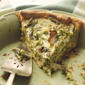 Mushroom Asparagus Quiche Recipe from Taste of Home -- shared by Sharon A Fujita of Fontana, California