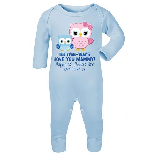 A sweet and adorable Mother's Day idea for a first time mother from baby. Personalised Baby Onesie for Mother's Day. WowWee.ie | €25