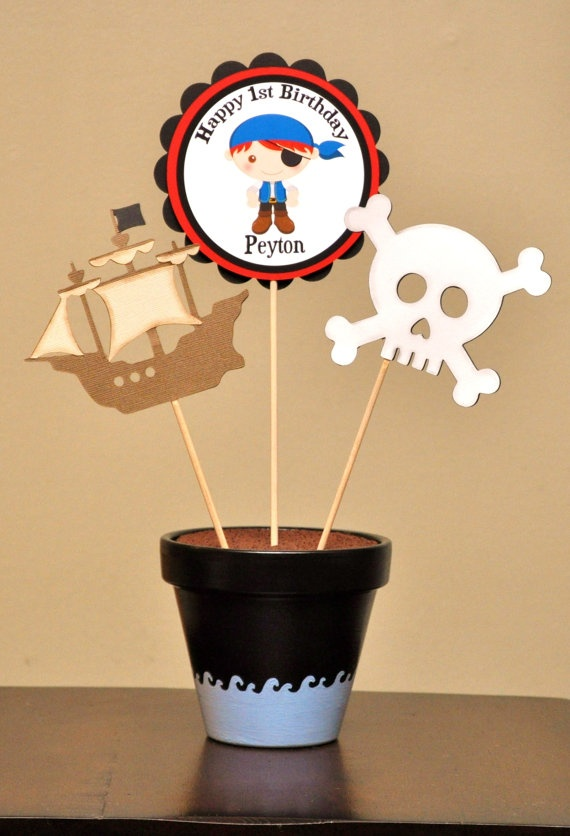 Pirate party Centerpieces  @kathrynbrill @kathrynebrill