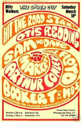 Otis Redding ,Sam & Dave ,Booker T &The MG's ,Arthur Conley,Eddie Floyd ,Mar-Keys& Sharon Tandy ..vintage concert poster