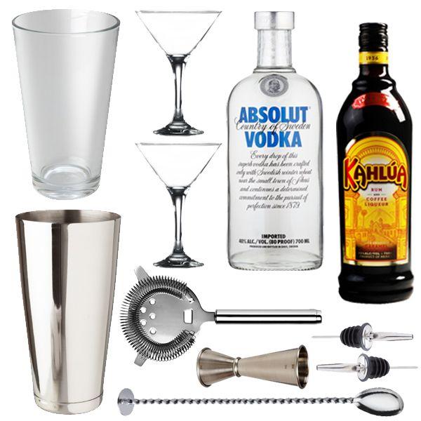 <strong>Espresso Martini Set</strong> - The espresso Martini is the sexiest drink of the moment. This stylishgift includes everythingyou will need to shake your way to caffeine cocktail heaven.  <ul>   <li>1 x Boston Cocktail Shaker Can 28oz</li>   <li>1 x Boston Cocktail Shaker Glass 16oz</li>   <li>2x Stainless Steel Freeflow Pourer</li>   <li>1 xProfessional Jigger</li>   <li>1 x Cocktail Miking Spoon</li>   <li>1 x Hawthorne Strainer</li>   <li>2 x Martini Glasses</li…