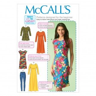 McCalls Ladies Easy Sewing Pattern 7122 Tunic Top, Dresses