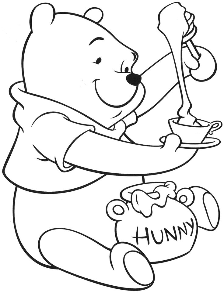 Coloring book pages of pooh bear ~ 76 best Winnie the Pooh Coloring Pages images on Pinterest ...