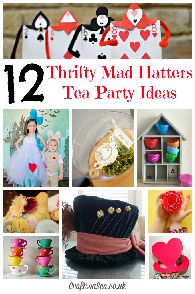 Thrifty Mad Hatters Tea Party Ideas: Tuesday Tutorials - Crafts on Sea
