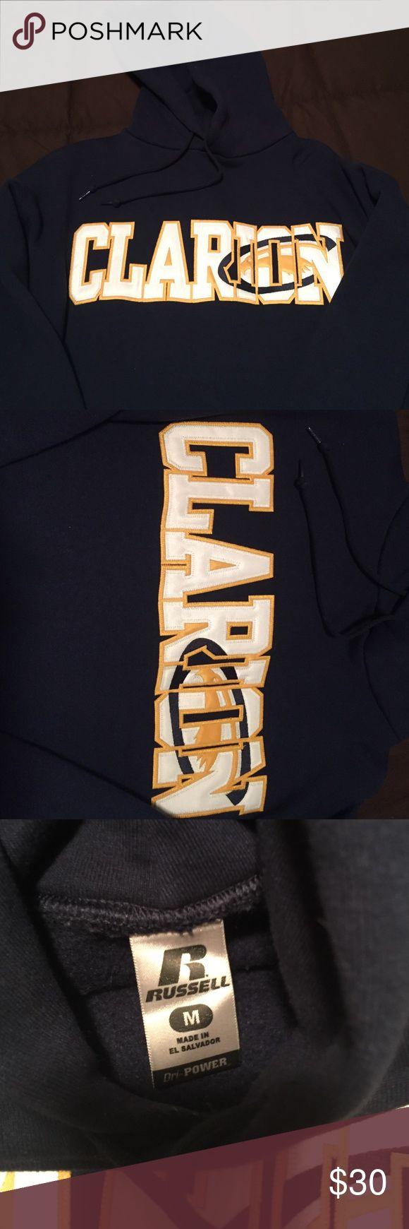 Clarion university hoodie sweatshirt Clarion university hoodie sweatshirt. Navy Blue. Medium. Like New! Tops Sweatshirts & Hoodies