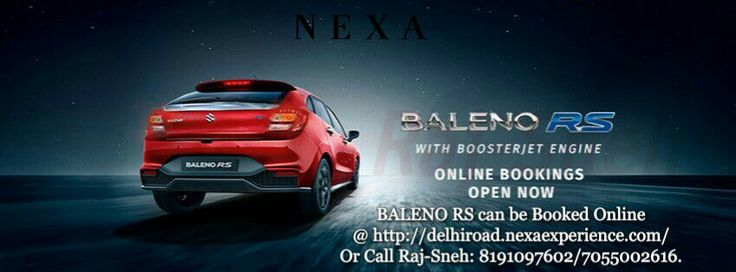 Maruti Suzuki opens online booking for high-performance car Baleno RS Features latest 1.0 BOOSTERJET Direct Injection Turbo Engine Built for those who look for more performance in their everyday drive #RULETHEROADS #MADEOFSPEED #POWERTOTHRILL #FEELTHERUSHFROMWITHIN E-Book Now : http://delhiroad.nexaexperience.com/  Or Call Raj-Sneh: 8191097602/7055002616