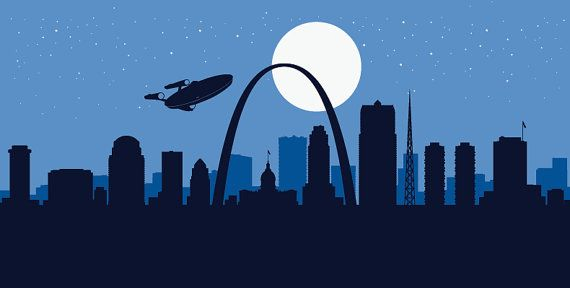 Hey, I found this really awesome Etsy listing at https://www.etsy.com/listing/232997730/st-louis-skyline-print-the-return-star