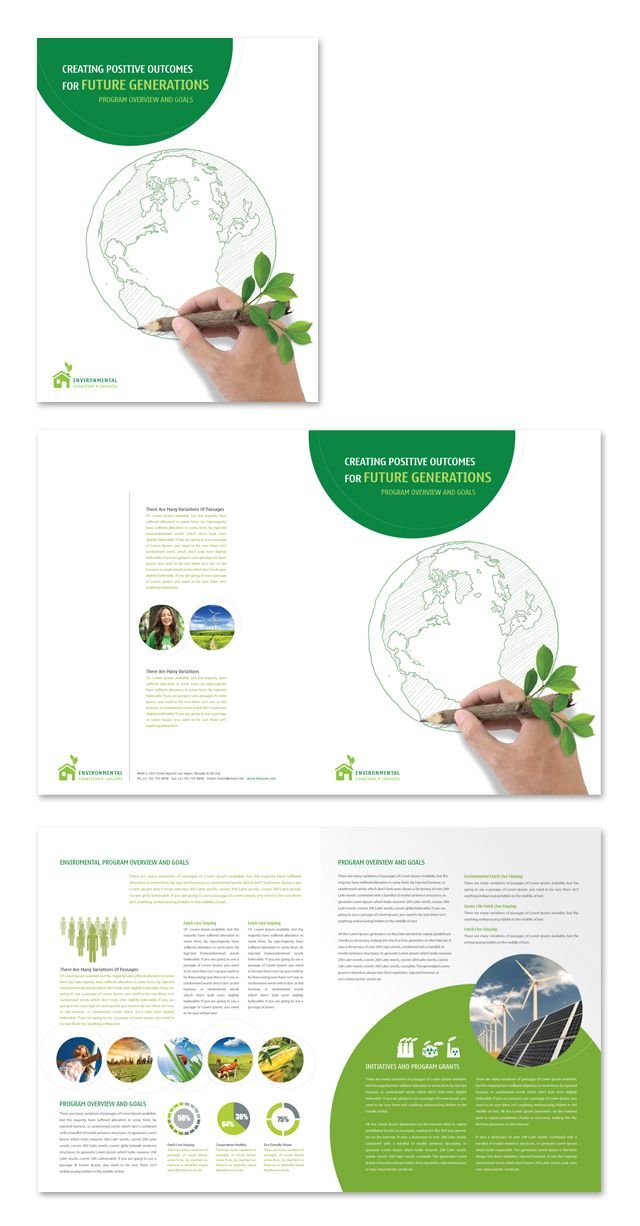 1000 images about creative brochure templates on for Environmental protection plan template