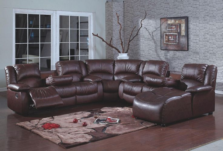 Lovely Leather Sectional Sofa With Chaise And Recliner Sectional Sofa With Recliner Brown Sectional Sofa Sectional Sofa With Chaise