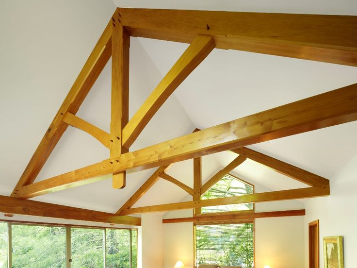 The King Post Truss design is probably the most commonly used and features a central vertical post between the rafters and tie-beam.