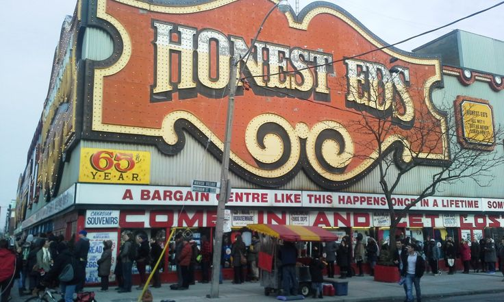 Honest Ed's Sign Sale, March 10, 2014. Get full story!: http://www.thepurplescarf.ca/2014/03/Event.The-Long-Journey-To-BuyHonest-Eds-Signs.html #lifestyle #Toronto